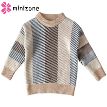 Sweater Baby Boy Girl Winter Clothes O-Neck Striped Casual  Knitted Cardigan Jackets For Girls Boys Tops New