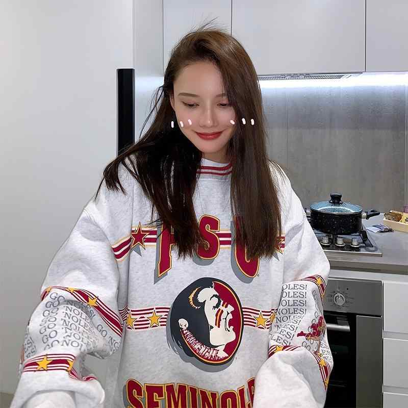 Nicemix Khoác Hoodie Nữ In Chữ Rời Đơn Giản Cho Nam Nữ Phong Cách Hàn Quốc Mềm Mại Hàng Ngày Áo Thun Nữ Ulzzang Hợp Thời Trang Quần Áo