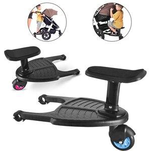 Dzieci szybowiec deska wózek pedał Adapter dziecko pomocniczy przyczepa przenośny skuter Hitchhiker dzieci stojący talerz z siedzeniem