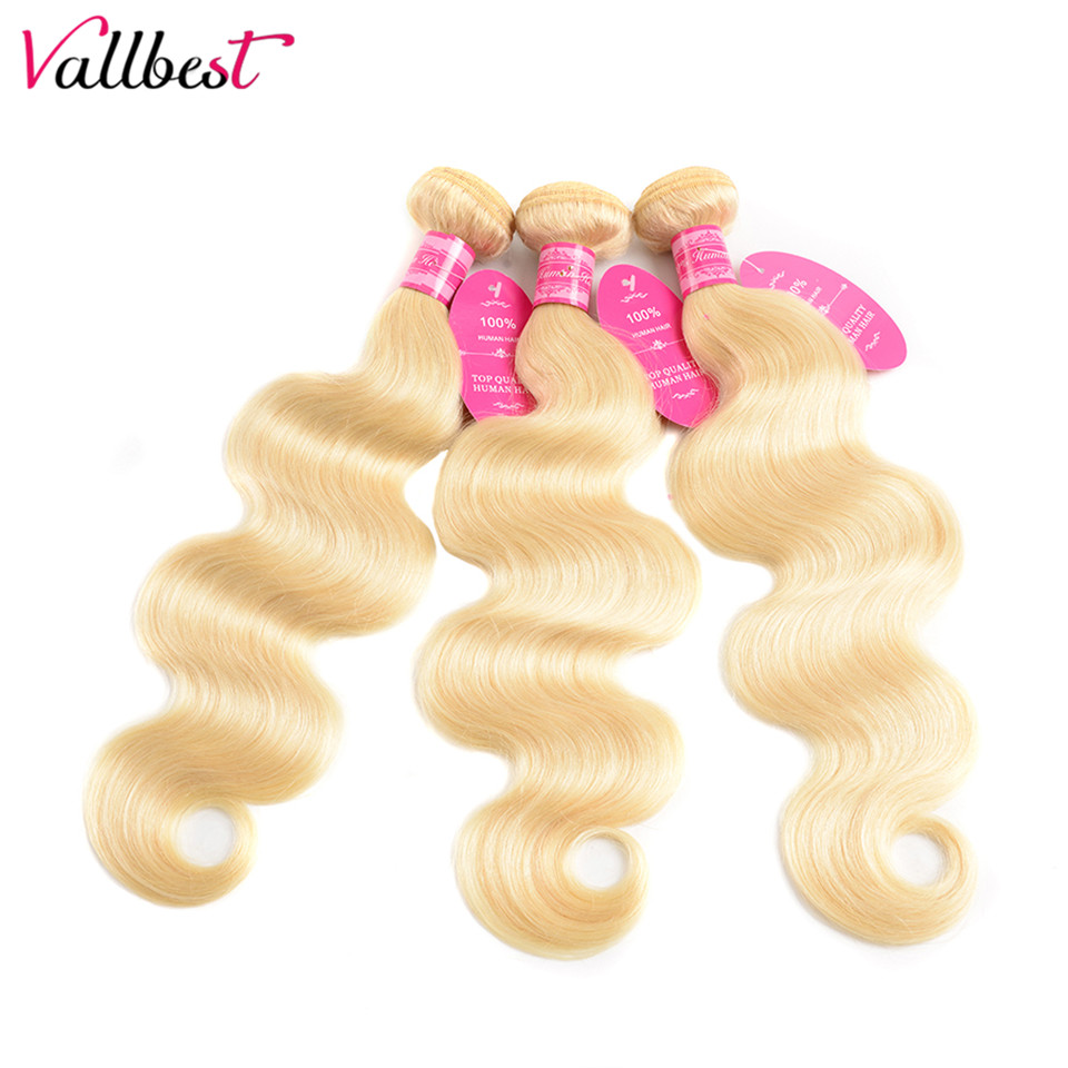 H06442b54c4f94068884a69a9316b34fbH Vallbest 613 Bundles With Frontal Brazilian Body Wave 3 Bundles With Closure Remy Human Hair Blonde Bundles With Frontal Closure