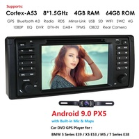 DSP IPS 7'' Android 9.0 Car Stereo DVD Multimedia Player for BMW E38 E39 X5 E53 M5 Radio BT Wifi One Din Car Head Unit GPS Navi