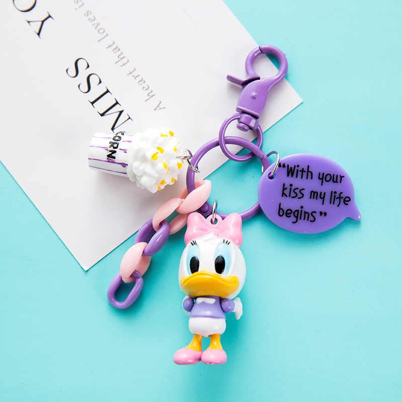 2019 Nova Chaveiro Mickey Ponto Pato Anime Brinquedo Keychain Chaveiro Chave Da Cadeia de PVC Figura Morty Bonito Unisex Presentes de Aniversário