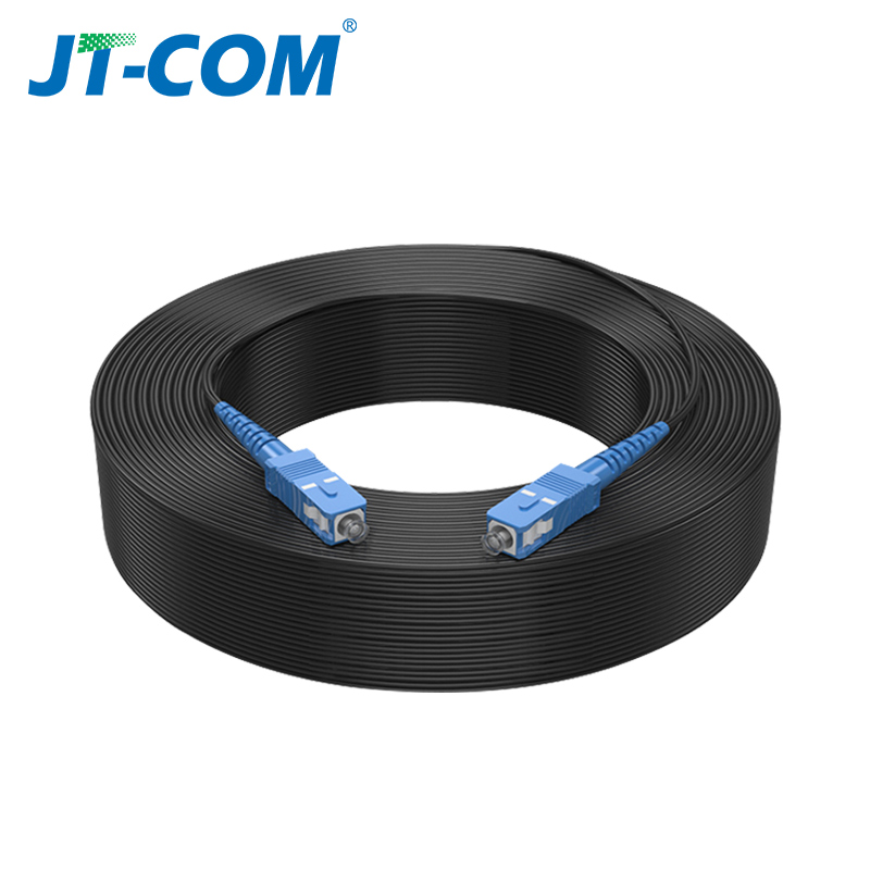 SC UPC to SC UPC Fiber Optic Drop Cable Single Mode Simplex 2.0mm Outdoor Fiber Optic Patch Cord Optical Patch Cable 6