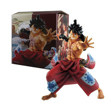 21 CM Anime One Piece Figure Luffy Land Of Wano Country Monkey D Luffy Action Figure PVC Collection Model Toys стоимость