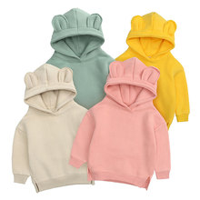 2021 Newborn Infant Kids Baby Girls Clothes For Boys Spring Autumn Causal Hoodie Sweatshirt Long Sleeve Solid Warm Outfit 0-24M