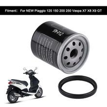 Filtr oleju do motocykla dla Piaggio 125 150 200 250 Vespa X7 X8 X9 GT tanie tanio IRON Filtry oleju 176g MUMH190411-6