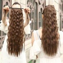 """Allaosify волосы 2"""" Длинные прямые Конские хвосты на заколках конский хвост шнурок синтетический конский хвост термостойкие накладные волосы"""