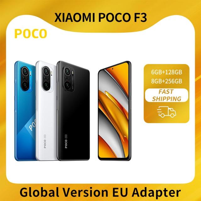 "Global Version POCO F3 5G Smartphone Snapdragon 870 Octa Core  6.67""120Hz E4 AMOLED Display 6GB 128GB/8GB 256GB NFC 33W Charger 1"