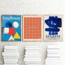 Bauthouse ausgungen – affiche d'exposition weamer, affiche d'art mural, affiches et imprimés pour la décoration de la maison