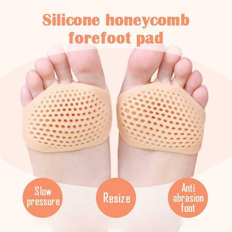 Brand New Silicone Honeycomb Forefoot Pad Foot Versatile Use Reusable Pain Relief
