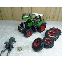 Редкий тонкий 1:32 718 8WD сельскохозяйственный трактор модель автомобиля Ограниченная серия Сборная модель из сплава