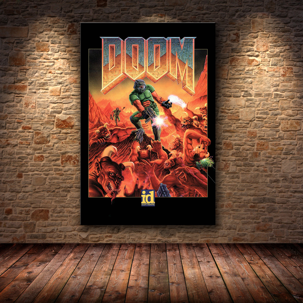 Game Poster Canvas Prints Classic Halo Video Games The Ultimate Doom Wall Art Painting Pictures For Living Room Home Decor image