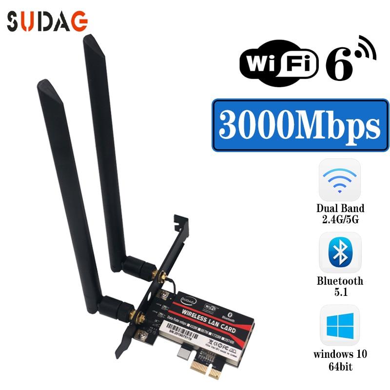 Dual Band 2.4Gbps PCIe Wifi Card Intel AX200 Gigabit Network Card 802.11AX Bluetooth 5.0 Wi-Fi 6 AX200 Pro Wireless Adapter(China)