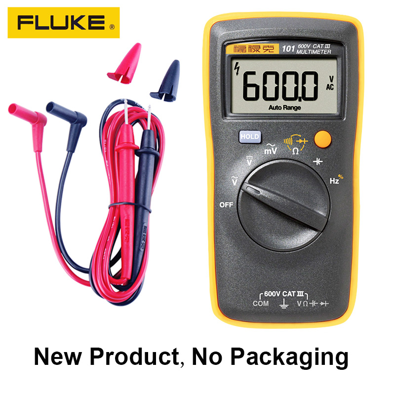 FLIUKE 100% Original 101 Mini Digital <font><b>Multimeter</b></font> Auto Range for AC/DC Voltage Resistance Capacitance Frequency Duty Cycle Tester image