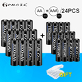 PALO 12Pcs 1.2V 3000mAh AA Batteries AA Rechargeable Battery12Pcs 1100mAh AAA Batteries NI-MH AA/AAA Rechargeable Battery