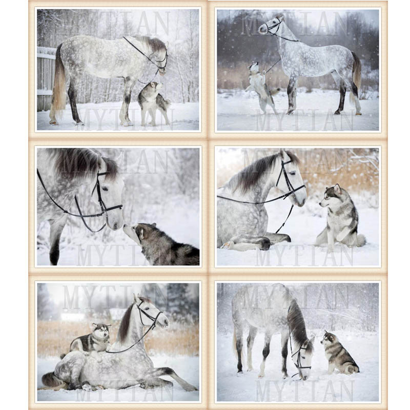 <font><b>5D</b></font> <font><b>Diamond</b></font> <font><b>Painting</b></font> <font><b>Winter</b></font> Horse dog Cross Stitch Animals Mosaic Embroidery Full square/round Set Pictures Decoration Home gift image