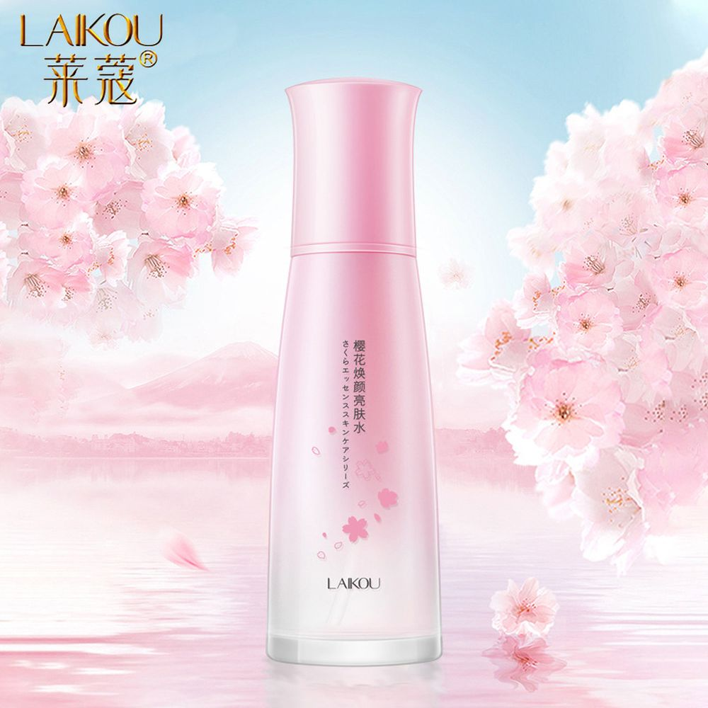 LAIKOU Cherry Blossoms Face Tonic Deep Moisturizing Oil-control Shrink Pores Makeup Water Whitening Skin Care Face Toners 130ml