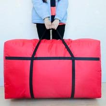 Oversized oxford pano wovenmoving saco de armazenamento duffel saco extra grande capacidade lona pacote portátil saco artefato 180l