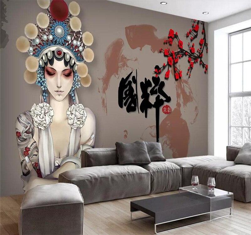 Custom Mural 3d Hexagonal Mosaic Modern Minimalist Geometric Background Wall - High-grade Waterproof Material