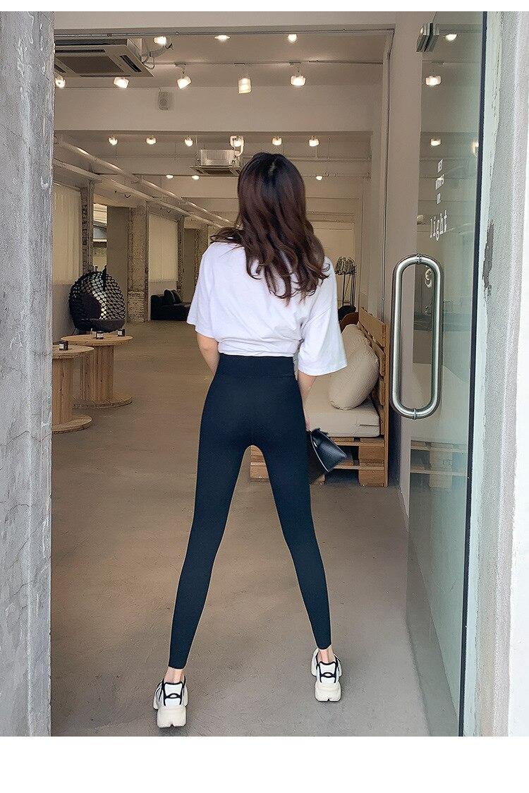 H06456cebba9c4e92adb06a6d83304b9bp BIVIGAOS New Women Sharkskin Black Leggings Thin Workout Stretch Sexy Fitness Leggings Skinny Legs Slimming Sport Leggings