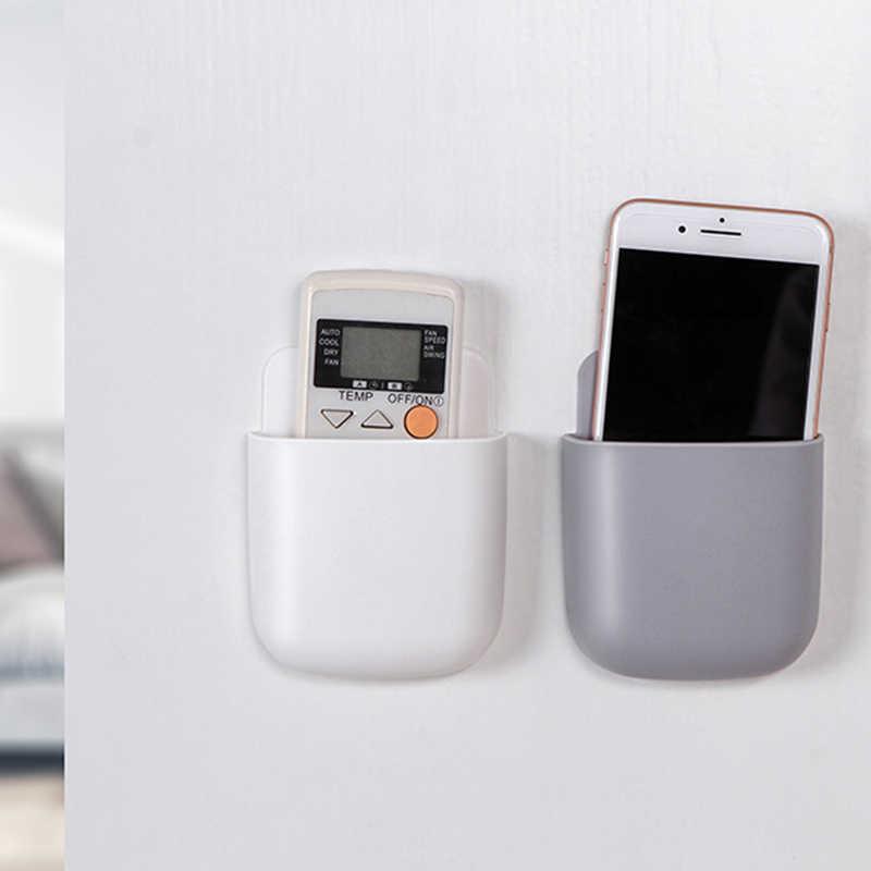กล่องรีโมทคอนโทรล Air Conditioner กล่องเก็บปลั๊กโทรศัพท์มือถือผู้ถือคอนเทนเนอร์ 1 ชิ้นติดผนัง Organizer