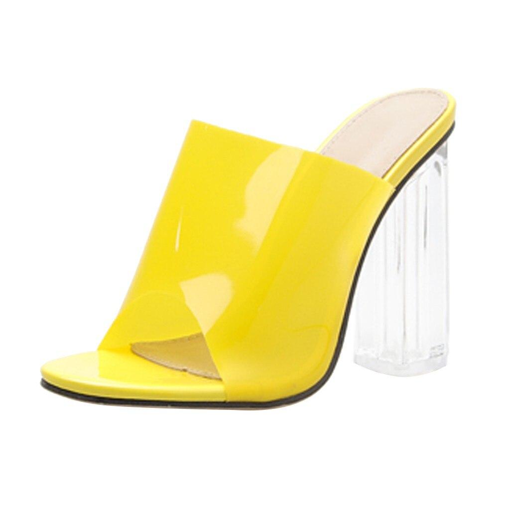 SAGACE Women's Pumps Shoes High Heels Casual Shoes Women 2019 Fashion Crystal Transparencies Shoes Pumps Female Sandals Party