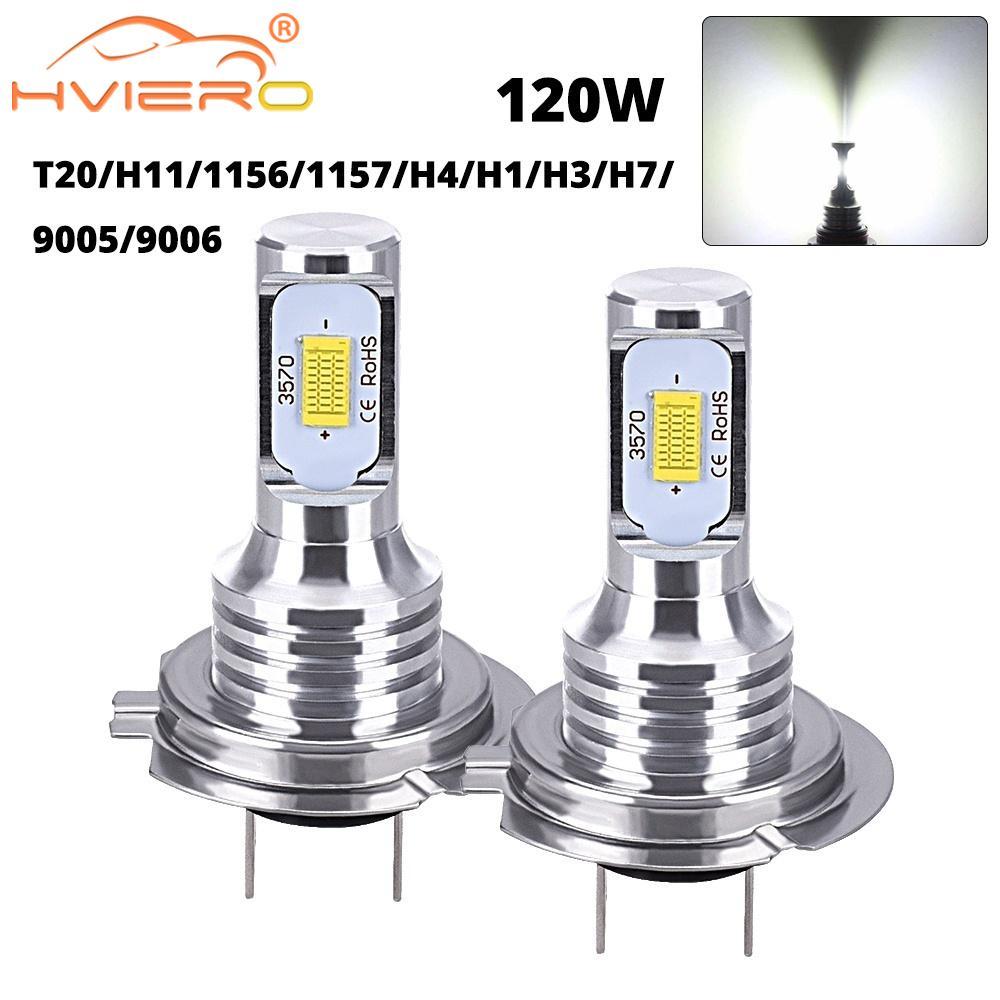 1 Автомобильный светодиодный мини-светильник CSP H7 H4 H11 H8 H1 H3 9005 HB3 9006 HB4 120 Вт, дневной сигнал поворота, лампа для багажника, лампы для автомобиль...