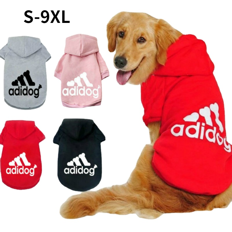 2021 Winter Pet Dog Clothes Dogs Hoodies Fleece Warm Sweatshirt Small Medium Large Dogs Jacket Clothing Pet Costume Dogs Clothes