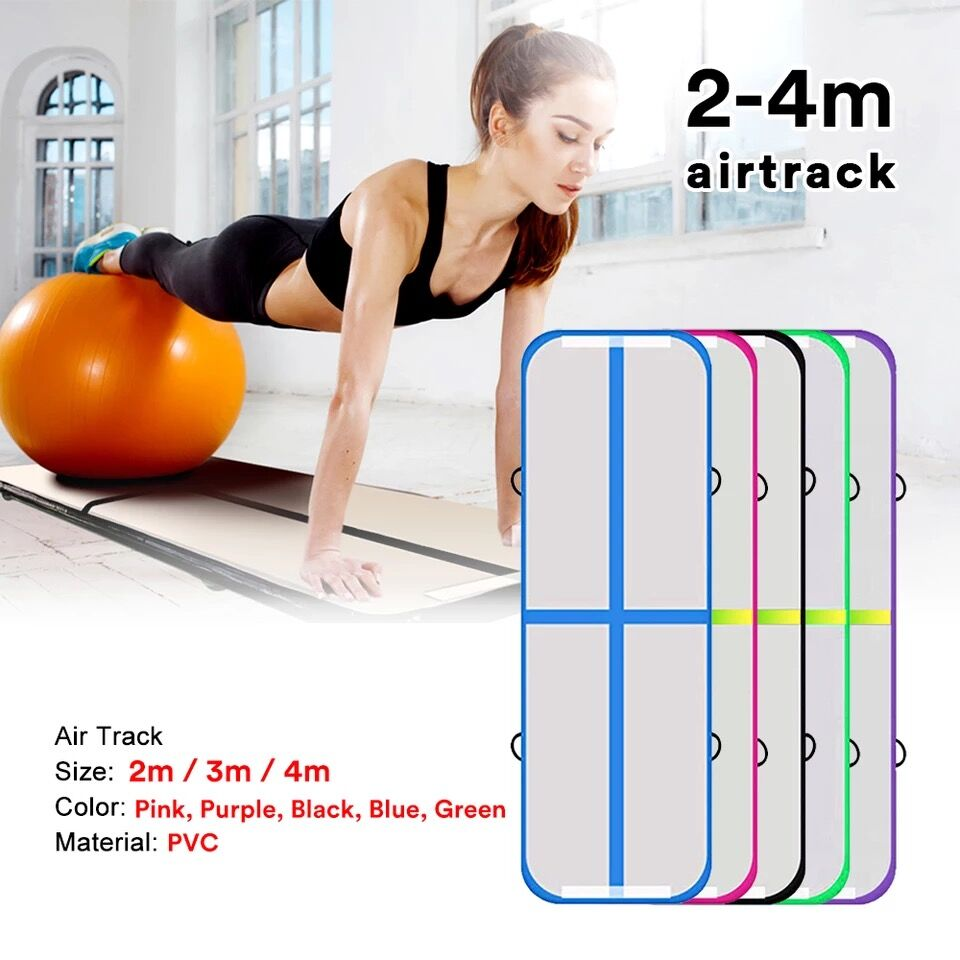 10ft Inflatable Gymnastics Airtrack Tumbling Mat Air Track Floor Mats For Home Use/Training/Cheerleading/Beach/Park And Water