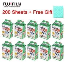 Fujifilm-papel fotográfico instantáneo Instax Mini, película blanca para Fuji Instax Mini 9 8 25 90 7S, 10-200 hojas, regalo gratis