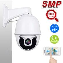 1080P 5MP PTZ IP Camera Outdoor Onvif 30X ZOOM Waterproof Mini Speed Dome Surveillance Security 2MP