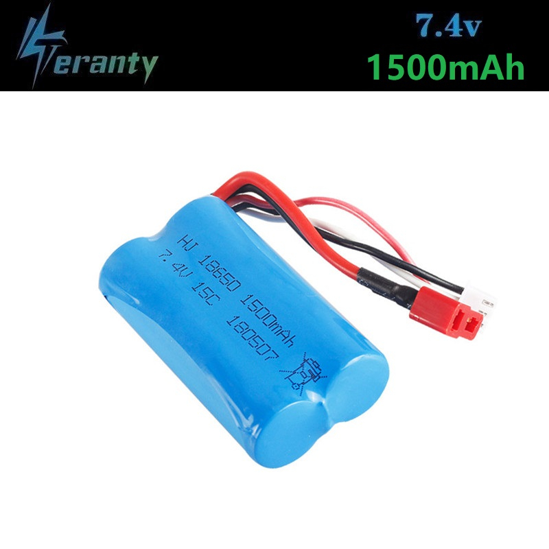 ( T Plug ) 7.4V 1500mAh lipo Battery for <font><b>Wltoys</b></font> 12428 12401 12402 12403 <font><b>12404</b></font> 12423 FY-03 FY01 FY02 rc toy battery part 18650 image