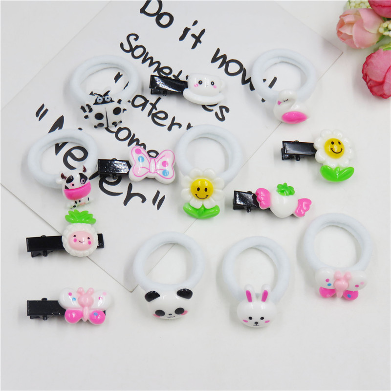 1PCS Lovely Rabbit Panda Elastic Hair Bands For Girls Chinese Style Clips Scrunchy Hairpin Kids Hair Accessories For Women