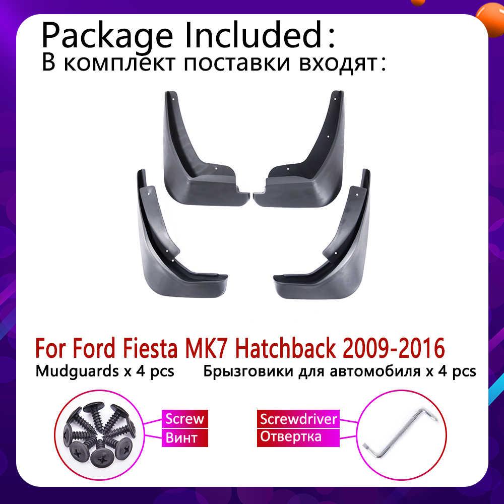 Mudflap für Ford Fiesta 7 MK7 Fließheck 2009 ~ 2016 Fender Schlamm Schutz Splash Flaps Kotflügel Zubehör 2010 2011 2012 2013 2014
