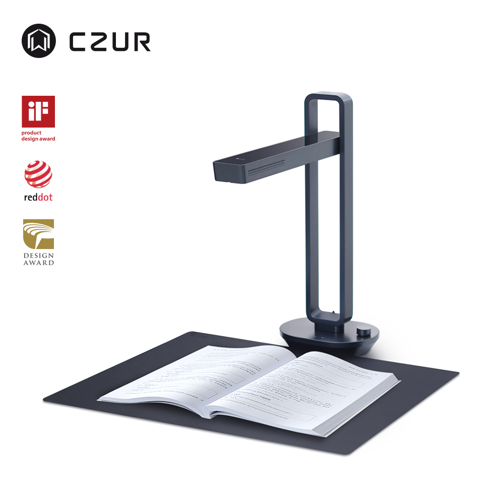 CZUR Aura Pro Portable Foldable 14MP Book Document Scanner Max A3 Size With Smart OCR Led Table Desk Lamp For Family Home Office