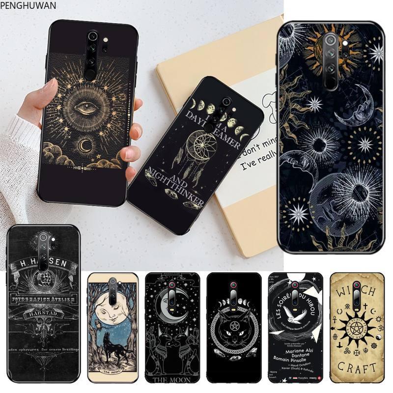 Ведьмы, луна, таро, Таинственный тотем, черный мягкий чехол для телефона, чехол для Redmi Note 8 8A 8T 7 6 6A 5 5A 4 4X 4A Go Pro|Бамперы|   | АлиЭкспресс