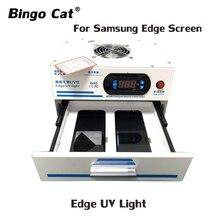 Yüksek verimli 1000w kenar UV lambası dalga kabarcık arka çözümü için Samsung için iPhone cam OCA LCD ekran onarım UV ışık
