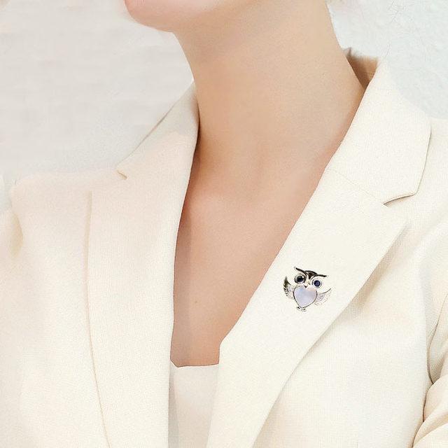 猫头鹰胸针