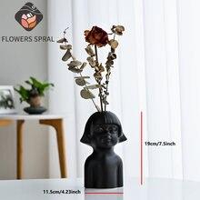 Керамическая ваза для тела художественная сушеная Цветочная