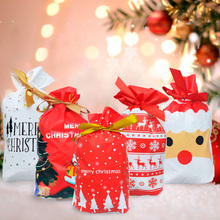 10pcs Christmas Gift Bags Santa Claus Ornaments Tree Decor Merry Decorations For Home Navidad 2019 New Year