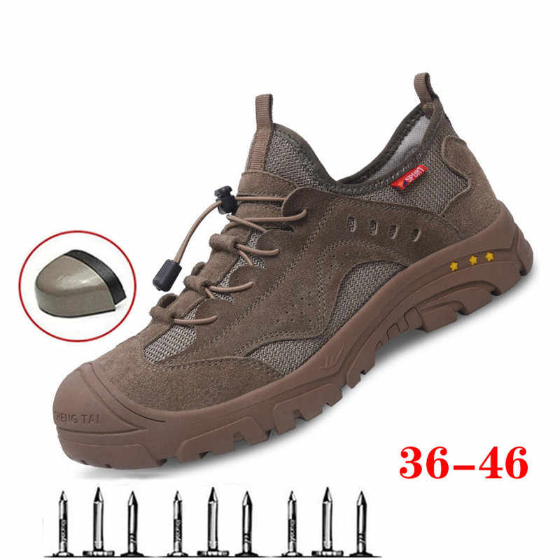 Safety Steel Toe Shoes Men Breathable