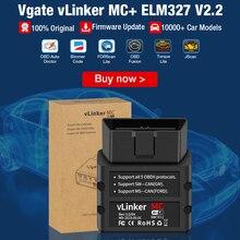 Vgate VLinker MC + ELM327 Bluetooth 4.0 OBD 2 OBD2 Máy Quét WIFI ELM 327 Làm Việc Cho BimmerCode FORScan Cho Android/IOS PK OBDLINK