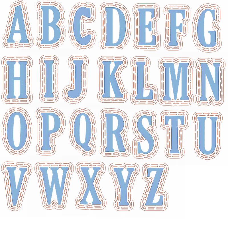 A Whole Set Of A-Z Alphabets 26 Letters Die Cuts+Plastic Stencils For DIY Scrapbooking Decoration New 2019 Embossed Crafts Cards