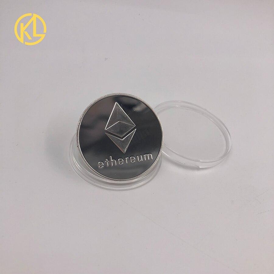 Bitcoin/Ethereum/Litecoin/Dash/Ripple/Monero/EOS coin 18 kind of Metal Physical silver/gold Plated Commemorative BTC Coin-4
