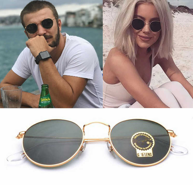 Classic Oval Sunglasses Men Women Retro Brand Designer Small Metal Frame Celebrity Sun Glasses Superstar Vintage Round Sunglass