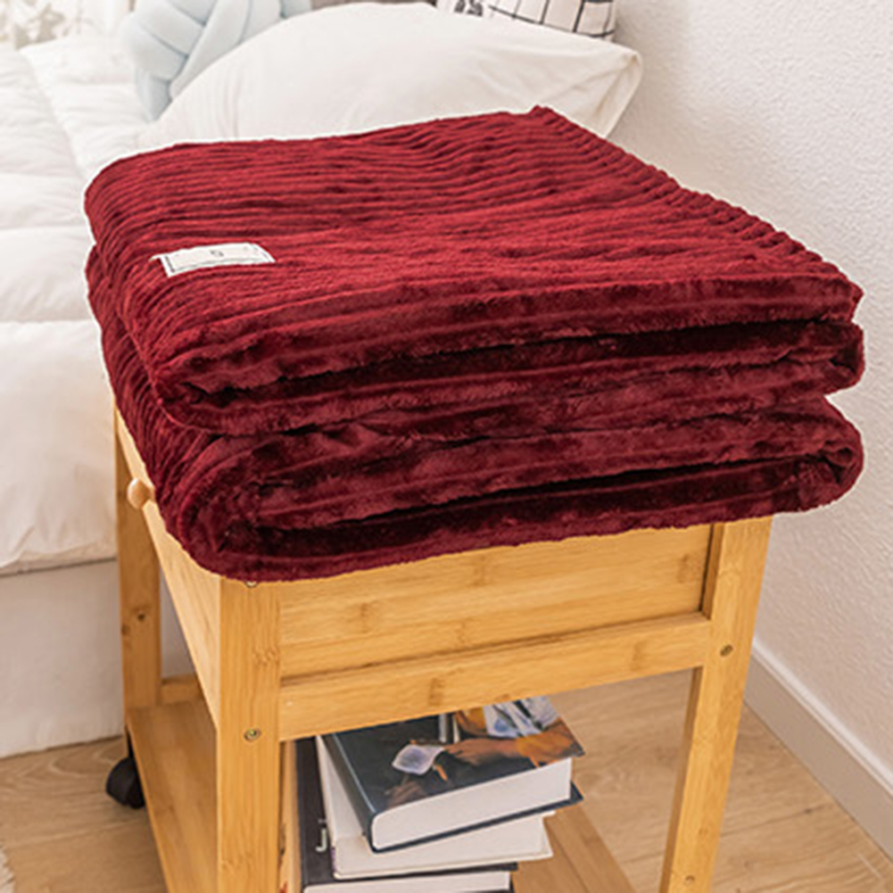 Winter Solid Color Thick Velvet Warm Blanket Sofa Couch Bed Soft Throw Blanket Mechanical Wash Flannel Blankets Bedroom Bedding-2