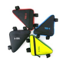 4 Colors Waterproof Triangle Cycling Bicycle Bags Front Tube Frame Bag Mountain Bike Pouch Phone Saddle Strap-On Holder