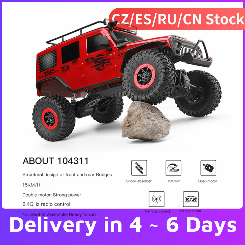 Wltoys 104311 Crawler Car Motor Rc-Car Remote-Control SUV Off-Road 1/10 Brushed