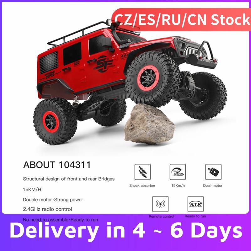 1/10 WLtoys 104311 RC Автомобиль 2,4G 4WD автомобиль внедорожник матовый двигатель дистанционное управление внедорожный гусеничный автомобиль