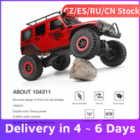 1/10 WLtoys 104311 RC Auto 2.4G 4WD Auto SUV Spazzolato Motore di Controllo Remoto Off-road Crawler Auto